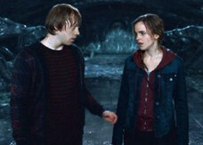 Harry Potter 8: video-backstage del bacio tra Ron e Hermione