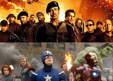 Stallone e i Mercenari, The Avengers in carne e ossa