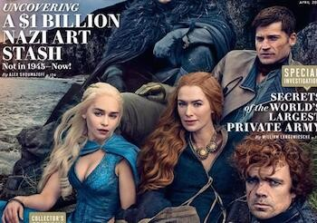 Game of Thrones 4: guarda la cover di Vanity Fair e scopri chi secondo i protagonisti meriterebbe di stare sul trono di spade!