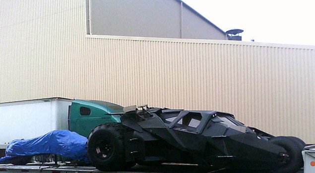 The Dark Knight Rises, la Batmobile sul set