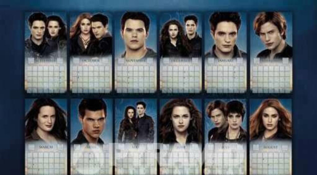 Breaking Dawn – Parte 2, Bella, Edward e Jacob sulla cover del calendario