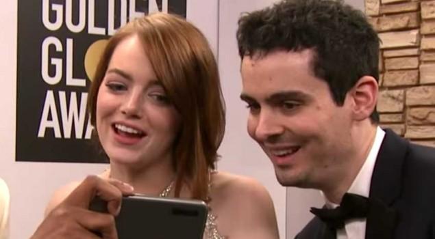 Golden Globes 2017, ecco come Emma Stone ha reagito al bacio tra Andrew Garfield e Ryan Reynolds