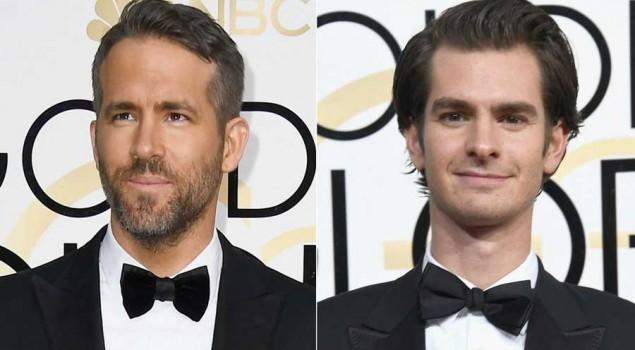 Golden Globes 2017, Ryan Reynolds e Andrew Garfield si baciano mentre Ryan Gosling ritira il suo premio