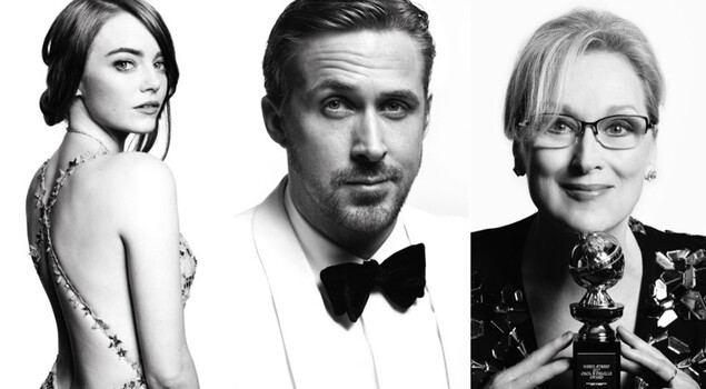 I Golden Globes in bianco e nero: le foto dei protagonisti