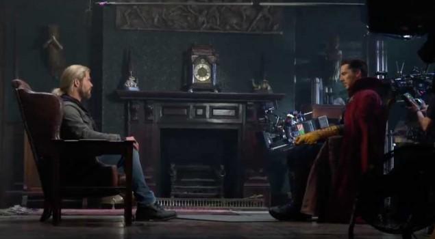 Doctor Strange e Thor nel dietro le quinte della scena post credits. Il video