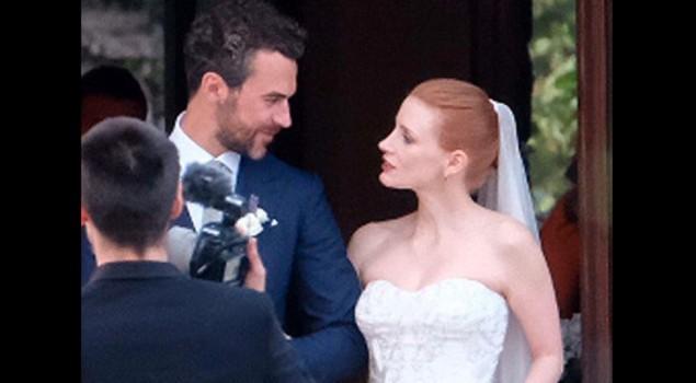 Jessica Chastain: nozze da favola a Treviso con il conte Gianluca Passi da Preposulo. Le foto