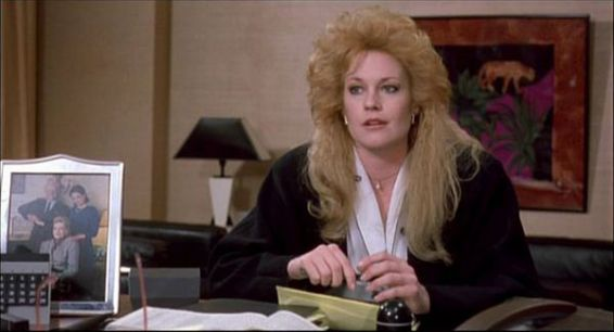 Melanie Griffith in Una donna in carriera