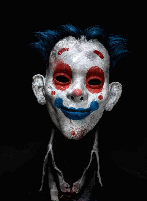 oscuro, angoscianti artwork di Joker e i clown al suo servizio