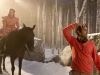 "Actor Robert Emms and director Tarsem Singh make ready for a scene on horseback, ""Snow White,"" September 12, 2011"