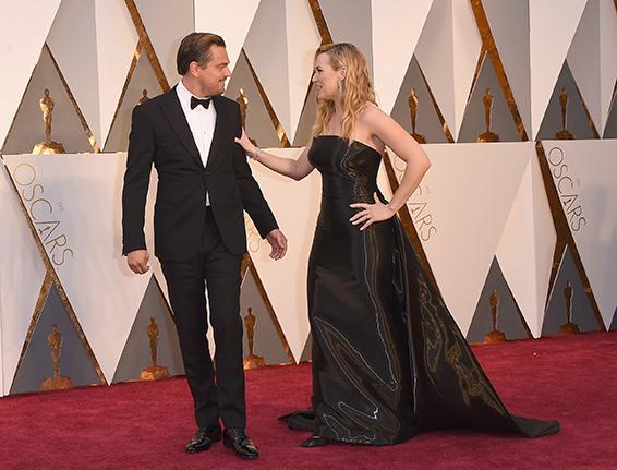 04. Oscar 2016: Leonardo DiCaprio e Kate Winslet