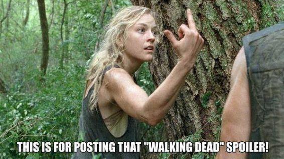 Questo è per aver messo quel post su The Walking Dead