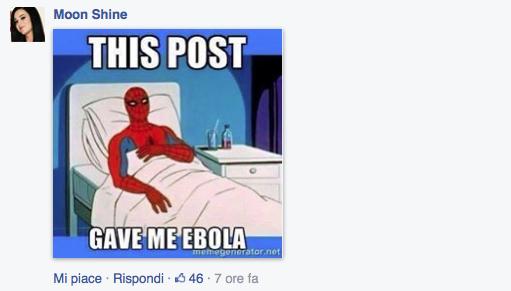 Questo post mi ha fatto venire l'ebola