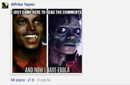 Sono venuto qui solo per vedere i commenti e ora ho l'ebola