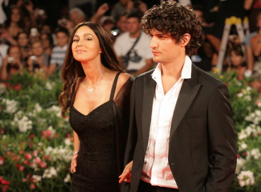 Monica Bellucci e Louis Garrel, interpreti di Un été brûlant, sul red carpet (foto di Luca Maragno)