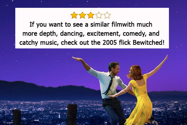 La La Land, vincitore di 6 Oscar (miglior attrice protagonista, miglior regia, miglior fotografia, miglior scenografia, migliore colonna ...