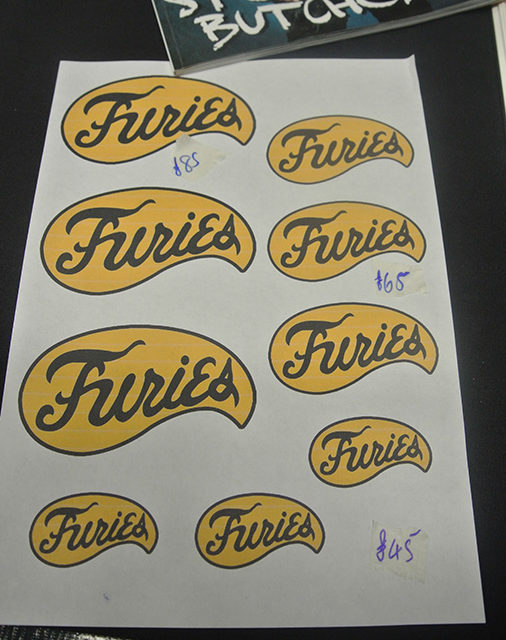 Un esempio di tatuaggi dei Furies. Con 45 sterline (circa 50 euro) ci si poteva tatuare in un paio d'ore.