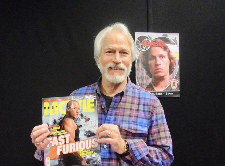 Michael Beck, alias Swan con in mano Best Movie di aprile con in copertina Fast & Furious 8