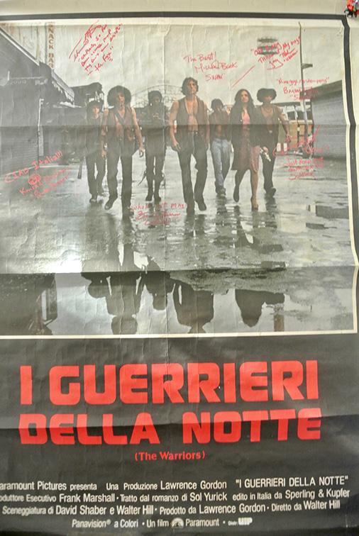 Il poster originale Italiano del 1979 autografato al UK Conclave