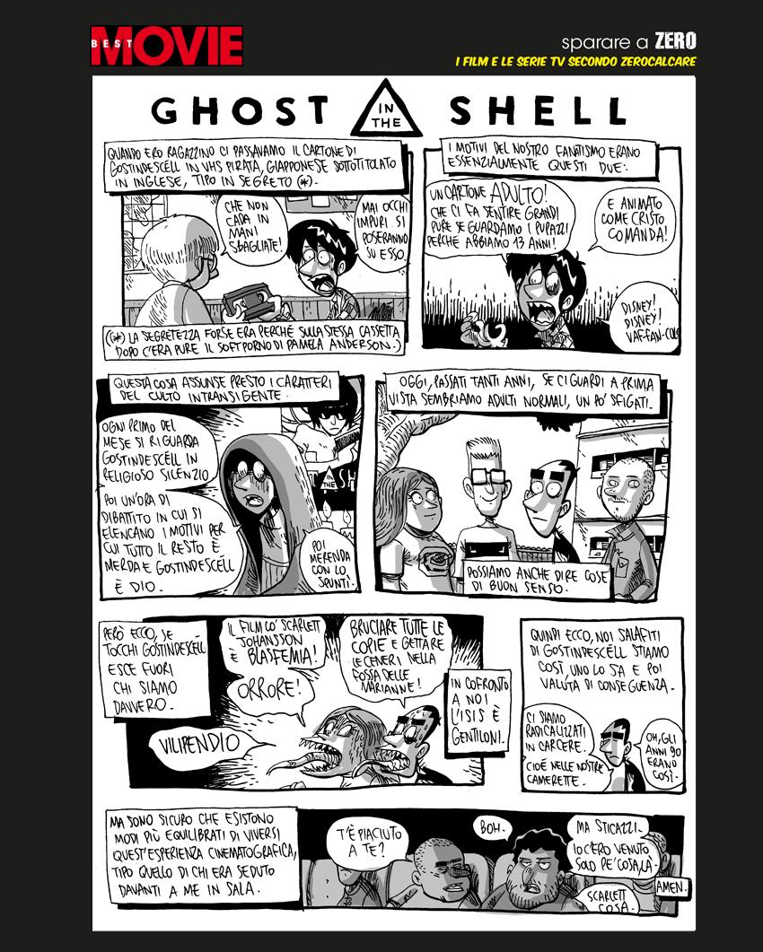 Zerocalcare e il culto di Ghost in the Shell su Best Movie di maggio