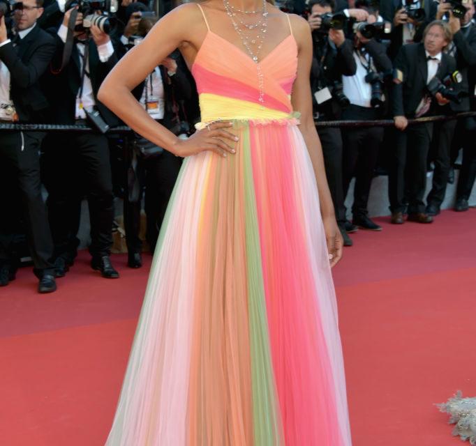 Naomie Harris - Un Gucci arcobaleno per l'attrice di Moonlight. Voto: 6+