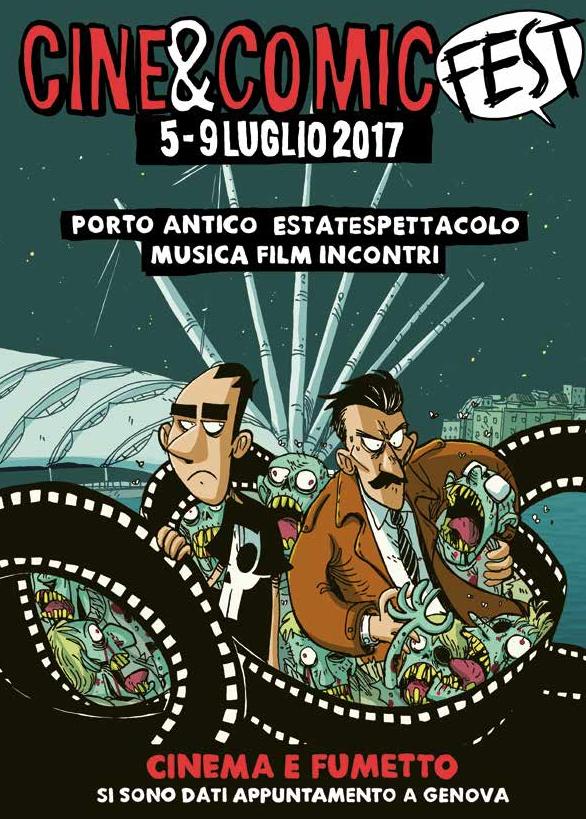 Il manifesto di Cine&Comic Fest al Porto Antico di Genova